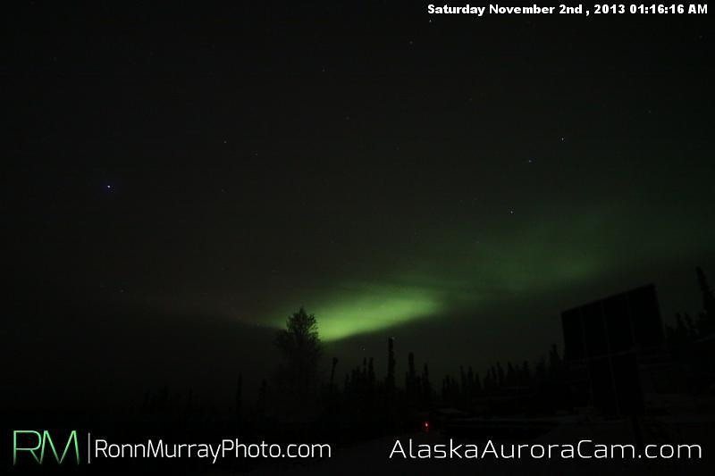 On Again, Off Again - Nov 2nd, Alaska Aurora Cam