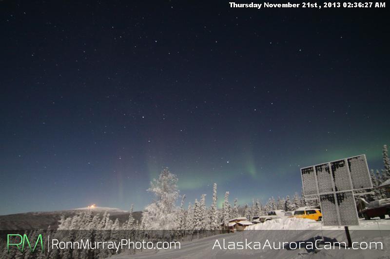 Faitly Present - Nov 21st, Alaska Aurora Cam