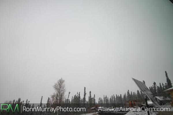 SNOW! October 9th, 2013 around 1:00pm, Alaska Aurora Webcam
