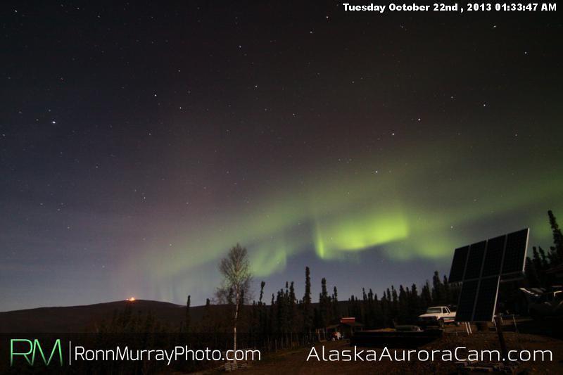 The Lights are Back On!!! - Oct 22nd, Alaska Aurora Cam