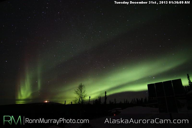 Sky Lights - Dec 31st, Alaska Aurora Cam