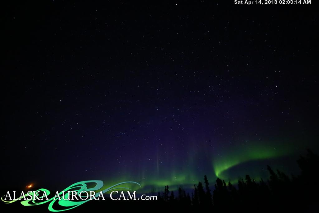 April  13th  - Alaska Aurora Cam