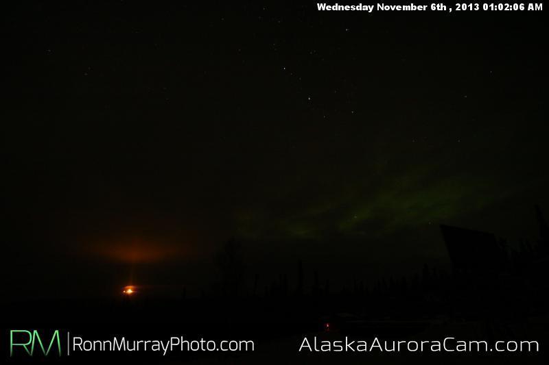 Break in the Clouds - Nov 6th, Alaska Aurora Cam