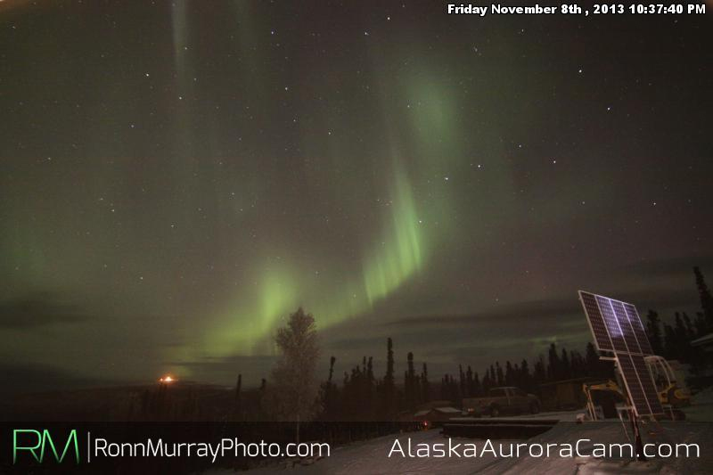 Great Aurora/Bad Weather - Nov 9th, Alaska Aurora Cam