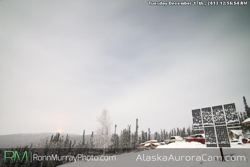 Foggy Moonshine - Dec 17th, Alaska Aurora Cam