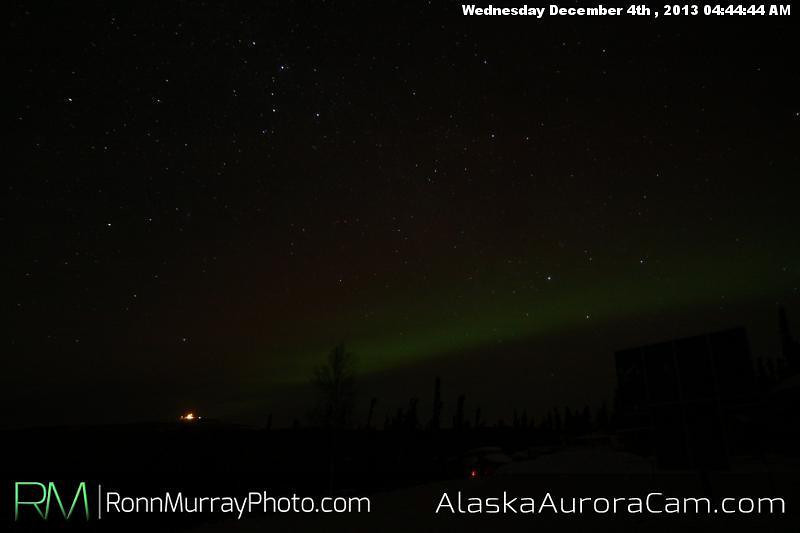 Quite but Green - Dec 4th, Alaska Aurora Cam