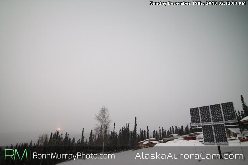 Cloudy Moonlight - Dec 15th, Alaska Aurora Cam