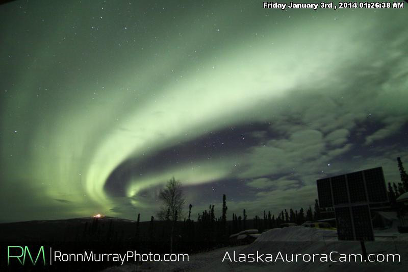 Swirls in the Clouds - Jan 3rd, Alaska Aurora Cam