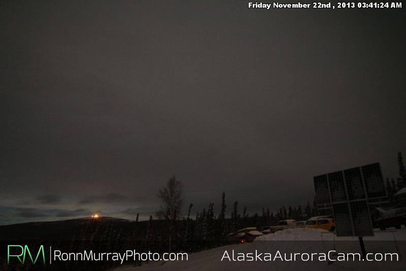 Too Cloudy - Nov 22nd, Alaska Aurora Cam