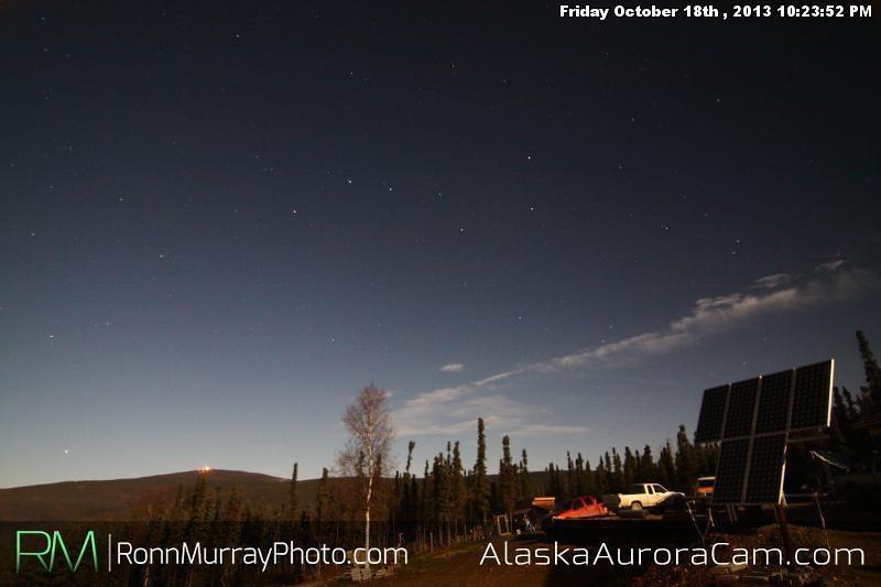 Clear Skies!  - Oct 19th, Alaska Aurora Cam