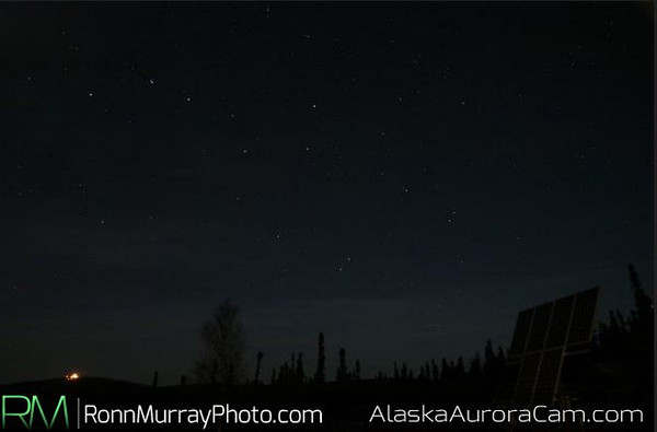 Clouded Over - October 13th, Alaska Aurora Webcam