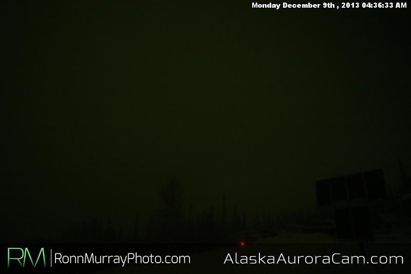 Dancing Behind the Clouds - Dec 9th, Alaska Aurora Cam