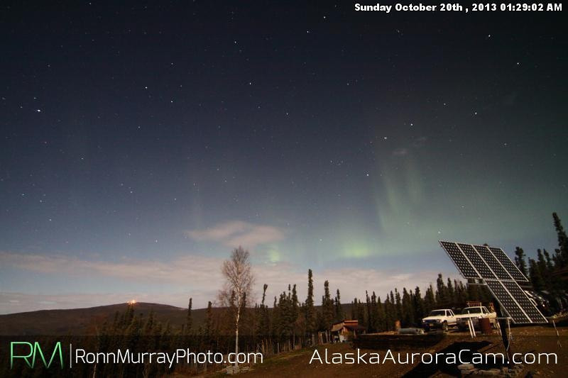 Clear skies complete with lights - Oct. 20th Alaska Aurora Cam