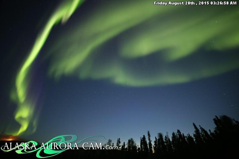 Snowy Evening October 10th, Alaska Aurora Webcam