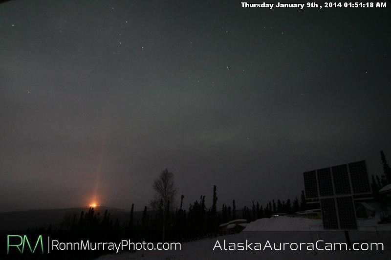 CME Dud - Jan 9th, Alaska Aurora Cam