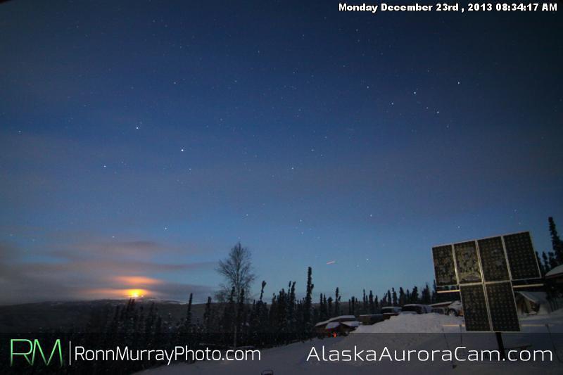 Sunrise Aurora - Dec 23rd, Alaska Aurora Cam