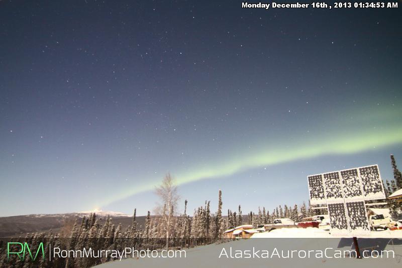 Moonlight Dance - Dec 16th, Alaska Aurora Cam