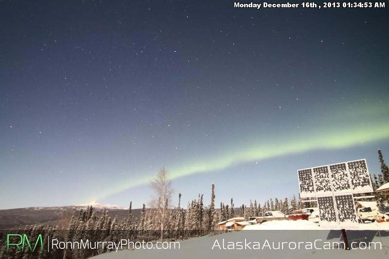 Moonlight Dance - Dec 16th, Alaska Aurora Cam
