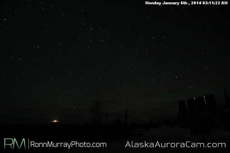 Faintly Present - Jan 6th. Alaska Aurora Cam