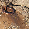 Ships tiedown ring from Jens Munk expedition, Churchill Manitoba Canada.