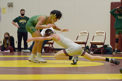 Northfield High School wrestling, 2021 January 19, Mayo and Lakevile North.