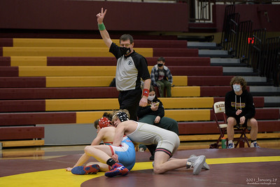 Northfield High School wrestling, 2021 January 29, Albert Lea and Owatonna.