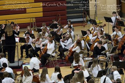 Orchestra Concert, Northfield Public Schools District, 2018 March 22; Natalie Kruger, Heather Olivier, Paul Ousley, directors; Northfield High School, Northfield, Minnesota USA.