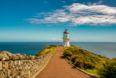 Pathway to the lighthouse in the far north of New Zealand