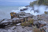 Lake Superior doesn't look that rough until you see the spray of the breaking waves from an early October Noreaster.