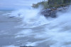 Waves pounding the shoreline of Lake Superior in an early October Noreaster..