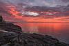 Lake Superior Sunrise.  Larsmont, MN.