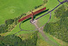 The Angel of the North from the air.