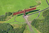 Aerial photo of The Angel of the North.