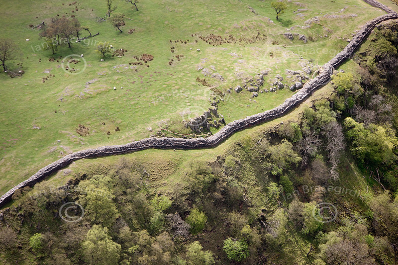 Hadrians Wall from the air.