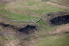 Milecastle 39 on Hadrians Wall from the air.