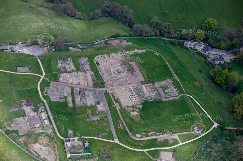 Vindolanda on Hadrians Wall from the air.