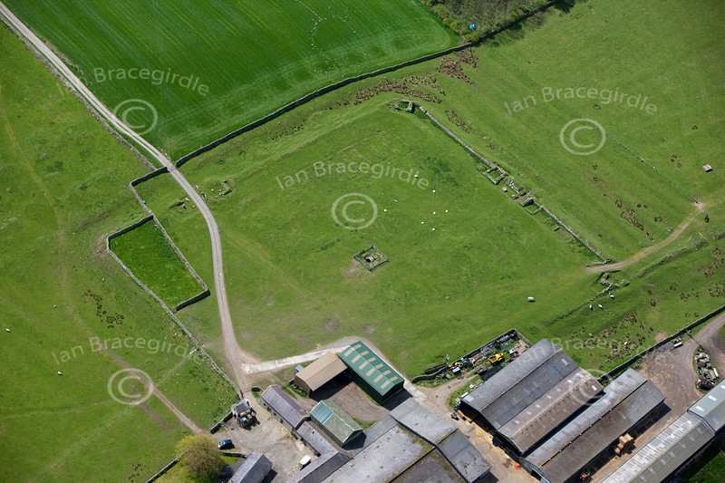 Great Chesters on Hadrians Wall from the air.