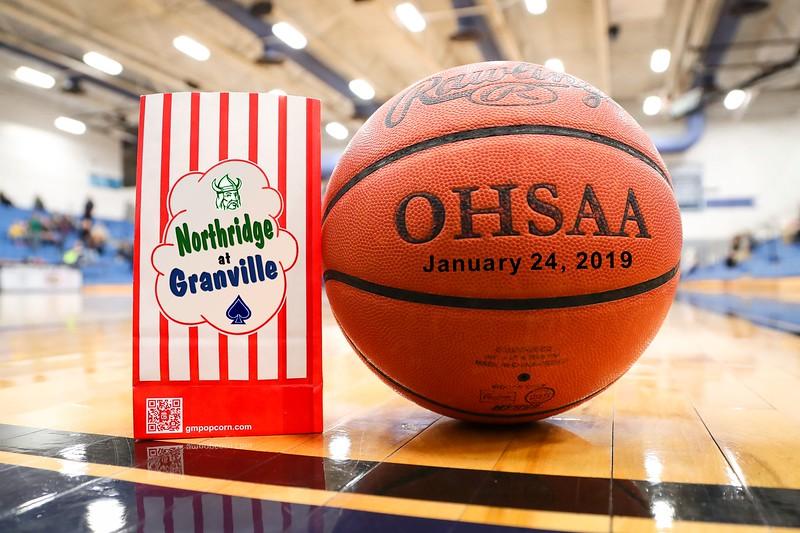 Varsity - Northridge High School Vikings at Granville High School Blue Aces - Thursday, January 24, 2019