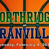 Varsity - Northridge High School Vikings at Granville High School Blue Aces - Tuesday, February 2, 2014