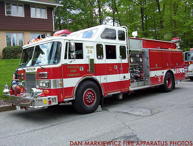 NATALIE FIRE CO. ENGINE 24 1989 PIERCE PUMPER