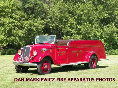 NORTHUMBERLAND FIRE DEPT. ANTIQUE 1937 FORD/SWAB PATROL WAGON