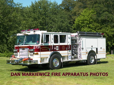 NORTHUMBERLAND FIRE DEPT. ENGINE 731 2012 PIERCE PUMPER