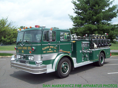 CLOVER HOSE CO. FORMER ENGINE 2 1966 INTERNATIONAL/HAHN PUMPER