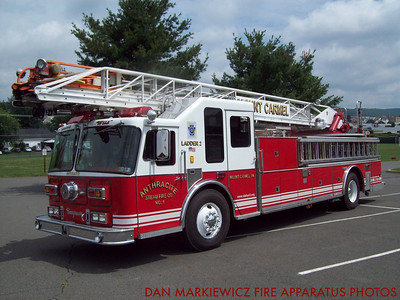 ANTHRACITE STEAM FIRE CO. FORMER LADDER 2 1980/96 SEAGRAVE AERIAL LADDER