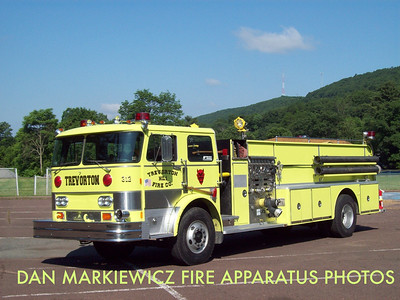 TREVORTON FIRE CO. ENGINE 312 1980 HAHN/11 AFF QUAD PUMPER