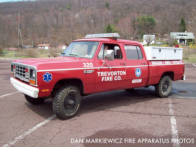 TREVORTON FIRE CO. UNIT 320 1981 DODGE/TFC UTILITY