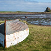 View across the harbour towards Lindisfarne Castle