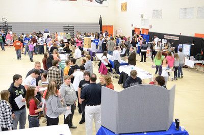 A mass of local students checked out the career fair Wednesday afternoon at the Milton High School.