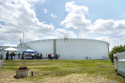 The new BFV tank and waste water treatment plant at Furmano Foods was unveiled on Thursday to the public for the first time.