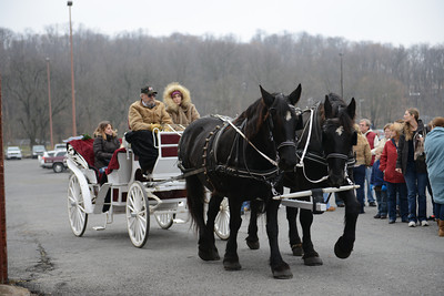 Jim Moist and Dawn Miller drive the carriage rides.